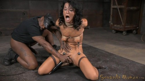 London River - Newbie London River gives her first blowjob in bondage, epic multiple orgasms and roug