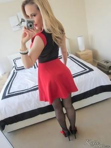 Katie Banks - Lil Red Dress [HQ Photoset] (2015/KatieBanks.com/59.22 MB)