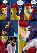 Comics Toons - Raven vs Flash