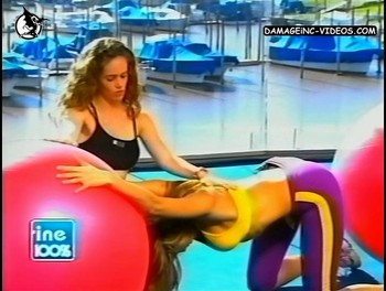 Catherine Fulop ass up gym on TV