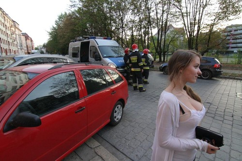 Poland car crash bystander
