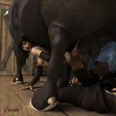 [Vaesark] Farm Girl (Beastiality 3D)